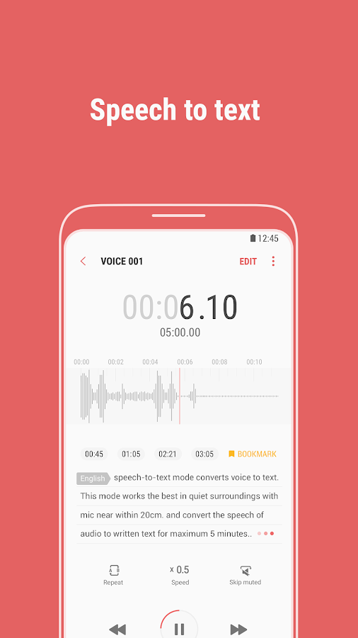 Samsung Voice Recorder- screenshot
