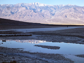 Photo: Badwater and Telescope Peak in the Panamints.