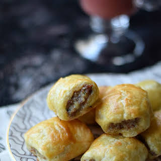 Puff Pastry Sausage Rolls.