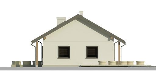Dom przy Bukowej 5 - Elewacja prawa