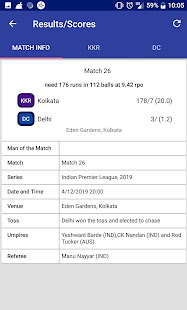 Download Indian T20 League 2019 -Time Table Live Score For PC Windows and Mac apk screenshot 3