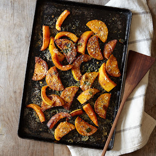 Roasted Butternut Squash with Parmesan, Lemon and Sage.