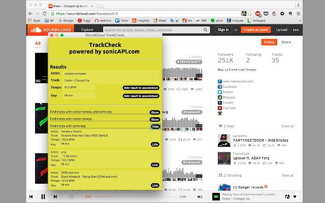 TrackCheck for SoundCloud