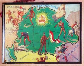 Photo: Rewizjonistyczna mapa na ścianie w knajpie budapesztańskiej!!!
