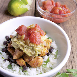 Chicken Black Bean Burrito Bowl.