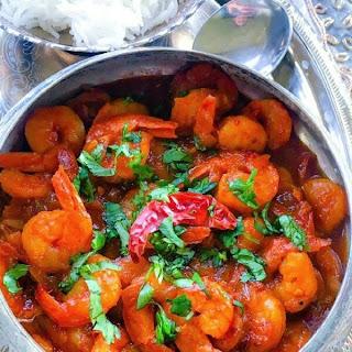 Spicy Shrimp Masala in Vodka Tomato Sauce