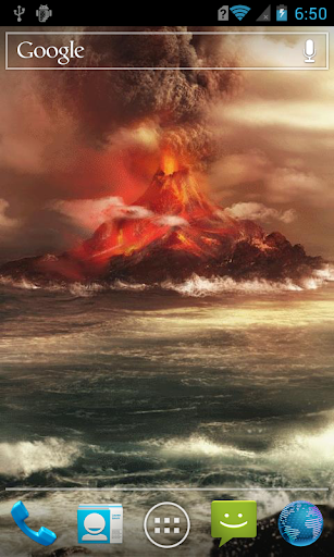 Volcano by the sea Live WP