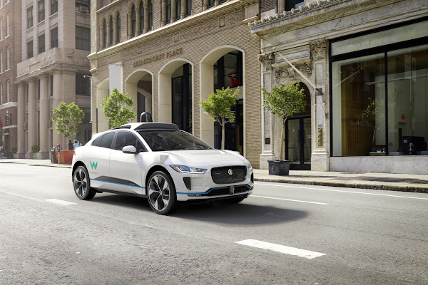 Waymo's autonomously driven Jaguar I-PACE electric SUV 3 (City Daytime)