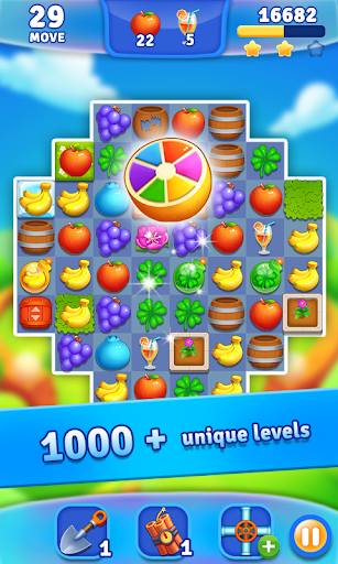 Fruits Garden - Scapes Match 3  captures d'u00e9cran 2