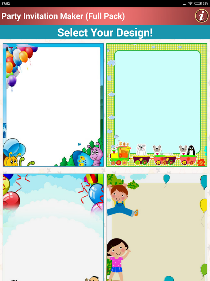 Make Party Invitation Cards - Android Apps on Google Play