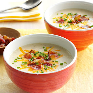 Slow-Cooked Loaded Potato Soup.