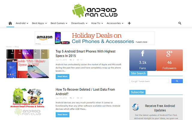 android fan site