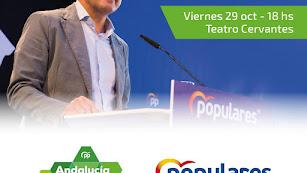 Cartel anunciador del mitin de Moreno.
