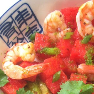 Shrimp, Avocado & Watermelon Salad