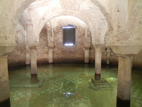 Photo: Famous crypt in the Basilica of San Francesco. It's famous mostly because it's flooded and they have goldfish swimming in it ...