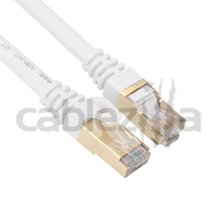CAT7 25FT Patch Cord Shielded Ethernet Internet Network Lan Cord 10G RJ45 Gold