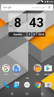 Retro Clock Widget- screenshot thumbnail