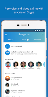 Skype Lite - Free Video Call & Chat (Unreleased) – уменьшенный скриншот