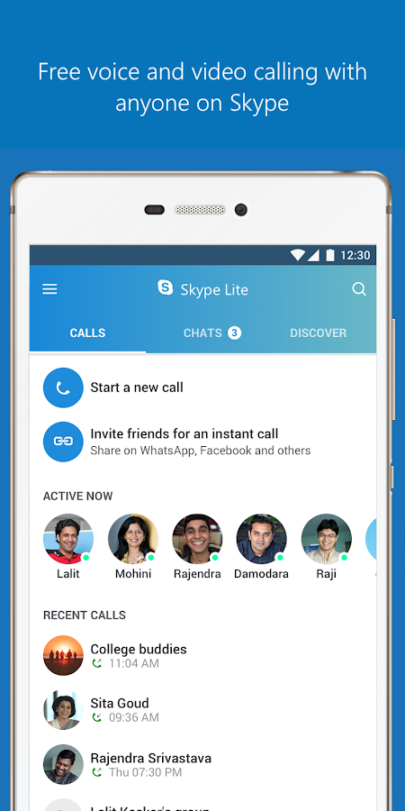 Skype Lite - Free Video Call & Chat (Unreleased) – скриншот