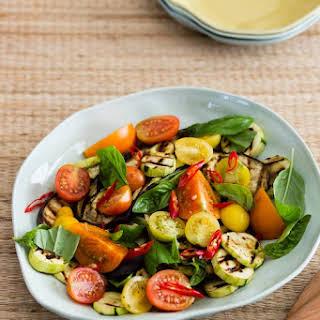 Summer Salad - Eggplant,Tomato and Zucchini.