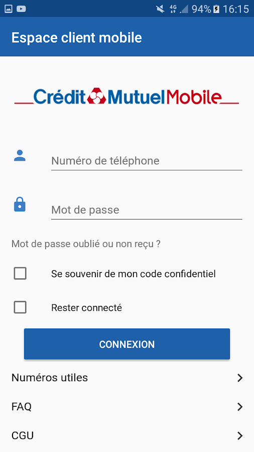 Crédit Mutuel Mobile- screenshot