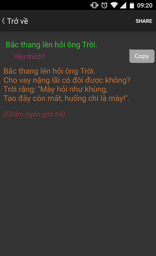 Vietnamese proverbs- screenshot