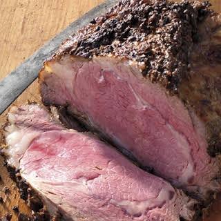 Herb-Crusted Rib Roast Au Jus.