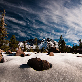 Lassen by Michael Keel - Landscapes Mountains & Hills ( snow mountains, northern california, lassen )