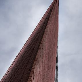Needle by Andrei Ciuta - Buildings & Architecture Office Buildings & Hotels ( detail, building, edge, color, brick, architectural, architectural detail, architecture, design )