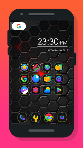Mee Dark - Icon Pack Aplicaciones para Android screenshot
