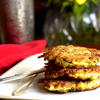 Zucchini Latke with Fresh Herbs and Feta