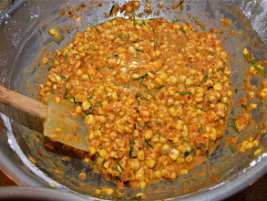 Photo: spicy corn mixture ready for frying
