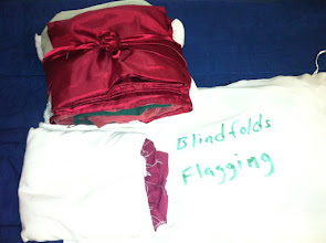 Photo: Blind folds and patrol flag material