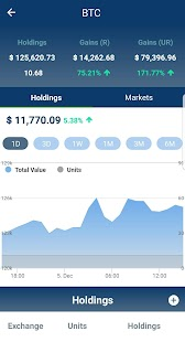 Bitcoin Altcoin price, portfolio tracker Cryptorai - náhled