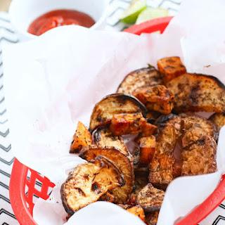 BBQ Baked Rutabaga Chips.