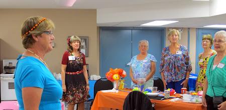 Photo: Granny Lynn leads us in the singing of Siya Hamba.