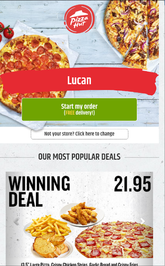 Pizza Hut Delivery - Ireland- screenshot