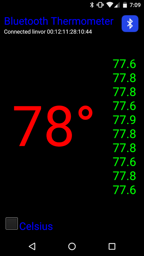 Bluetooth Thermometer- screenshot