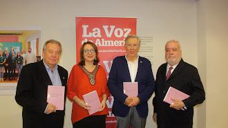 Antonio Martínez, Antonia Sánchez Villanueva, Luis Cortés y Francisco Giménez Alemán.
