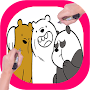 How To Draw We bare bears 🐻 APK icon