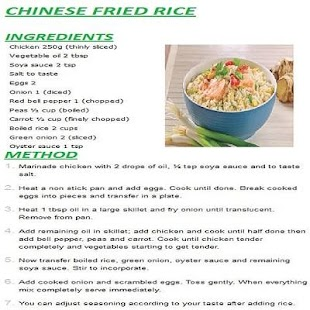 New chinese rice english recipes android apps on google play new chinese rice english recipes screenshot thumbnail forumfinder Images
