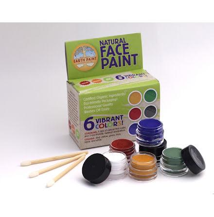 Natural Earth Paint, ekologisk ansiktsfärg 6-pack