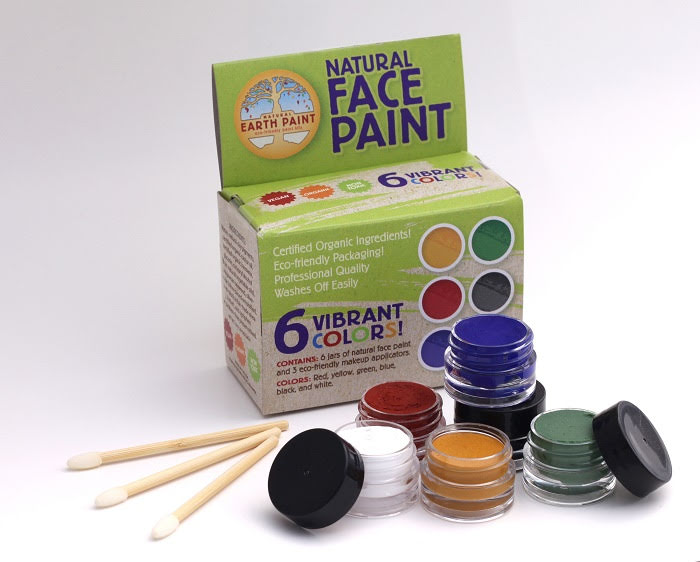 Natural Earth Paint, ekologisk ansiktsfärg 6-pack