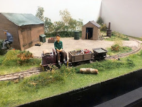 Photo: 017 Another view of the little 7¼ inch gauge loco at work on Simon Demaine's Ted's Yard .