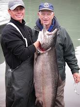 Photo: A large female Alaskan king salmon caught on the lower Kenai river.