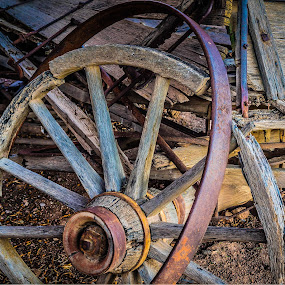 Seen Better Days by Keith Davis - Novices Only Objects & Still Life ( broken, wagon wheel, southwest )