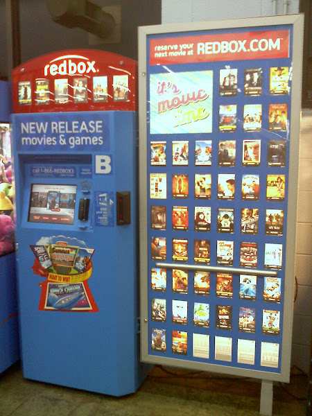 Photo: When we walked into Walmart we saw this blue Redbox, is it just me or is this silly!?