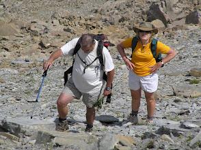 """Photo: Ascension de l'aiguille d'Orcières, les mêmes en """"gros"""" plan..."""