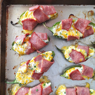 Healthy Turkey Bacon Wrapped Jalapeno Poppers