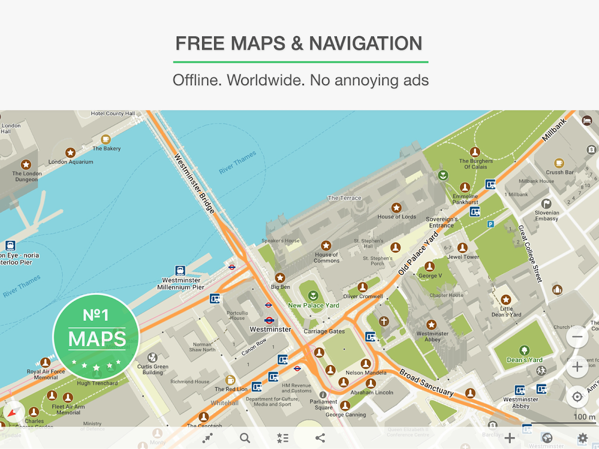 Screenshots of MAPS.ME – Map & GPS Navigation for iPhone